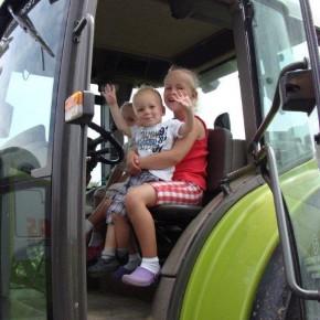 Tractorrit op de hoeve